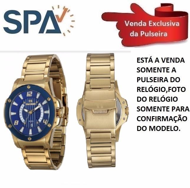 6edb62f1cbd Pulseira Do Relógio Seculus 20227gpsvla1 - R  169