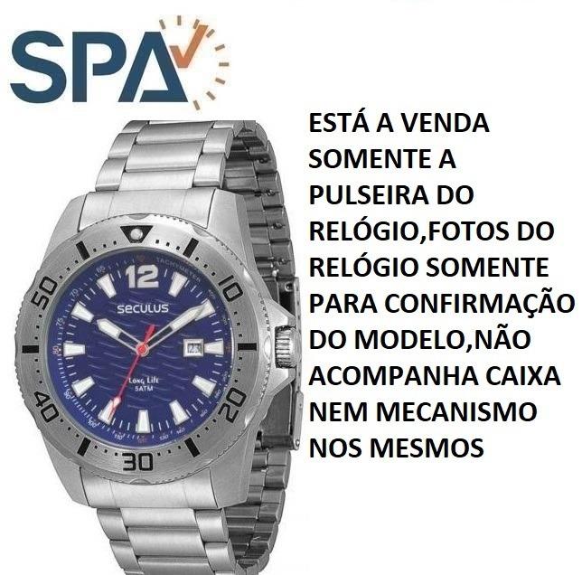 f1a5e962ae0 Pulseira Do Relógio Seculus 28375g0sgna2 - R  119