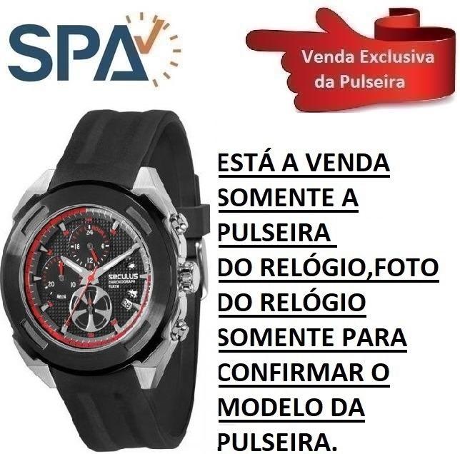 df3d66e989d Pulseira Do Relógio Seculus 50016gpsspu1 - R  139