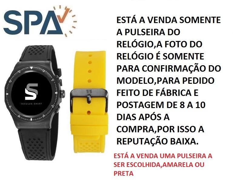cb5a5abbc5f Pulseira Do Relógio Seculus 79000gpsvpv1 - R  229