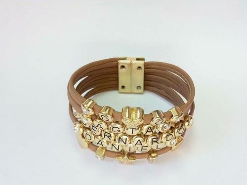 pulseira  dourada personalizada pulseira feminina com nome