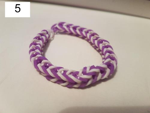 pulseira elastico 12 - rainbow loom 6 unidades