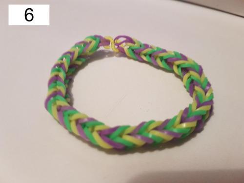 pulseira elastico 9 - rainbow loom 6 unidades