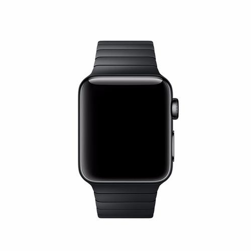 pulseira elos botão para apple watch 42mm 44mm aço inox