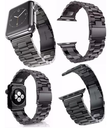 pulseira em aço inox preto para apple watch 42mm 38mm