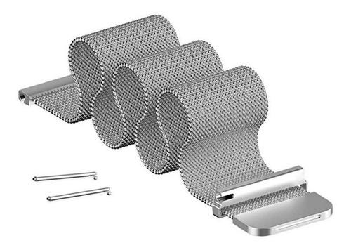pulseira em aço milanese para samsung gear s3 - prata