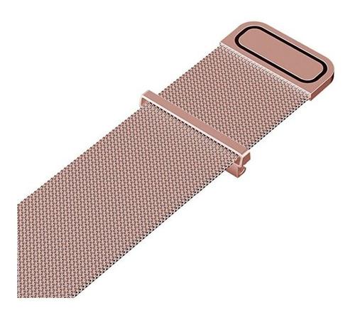 pulseira em aço milanese para samsung gear s3 - rose