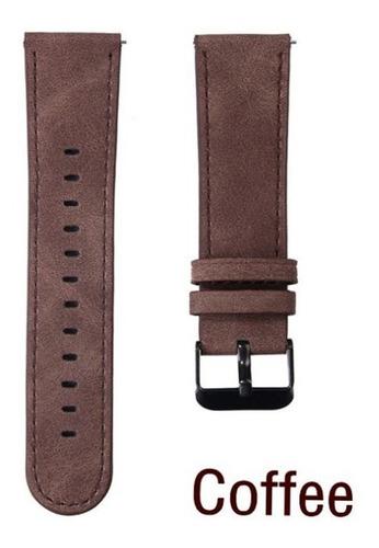 pulseira em couro aveludado para samsung gear s3 - café