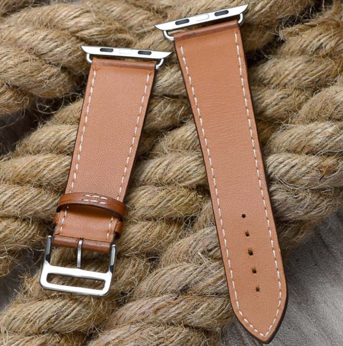 39dadaac533 pulseira em couro estilo hermes apple watch 38 40mm - marrom. Carregando  zoom.