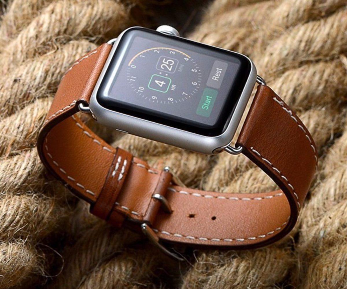 6e76f925a3c Pulseira Em Couro Estilo Hermes Apple Watch 38 40mm - Marrom - R ...