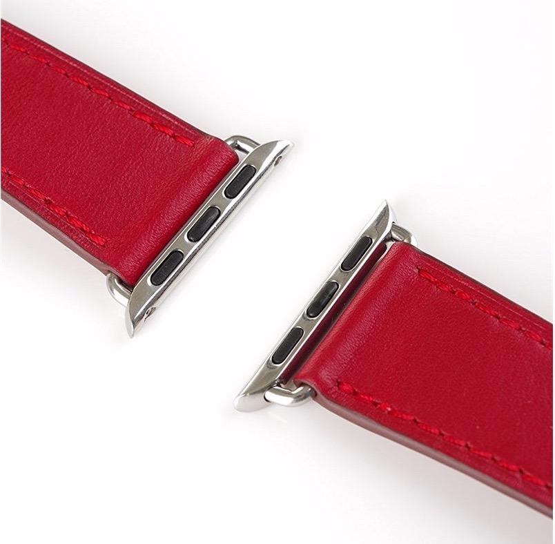4b28c5ec5e3 pulseira em couro estilo hermes apple watch 38mm - vermelha. Carregando  zoom.