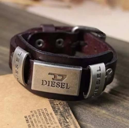 pulseira em couro legítimo alto padrão qualidade marrom top