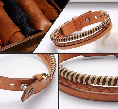 pulseira em couro legítimo italiano 1020