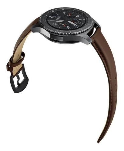 pulseira em couro legítimo para samsung gear s3 - café
