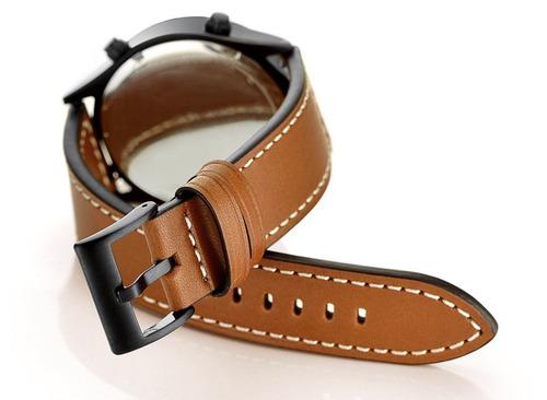 pulseira em couro legítimo para samsung gear s3 - marrom