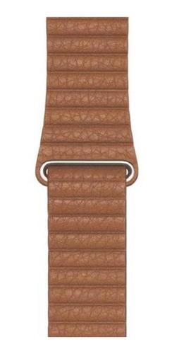 pulseira em couro loop para apple watch 38/40mm - marrom