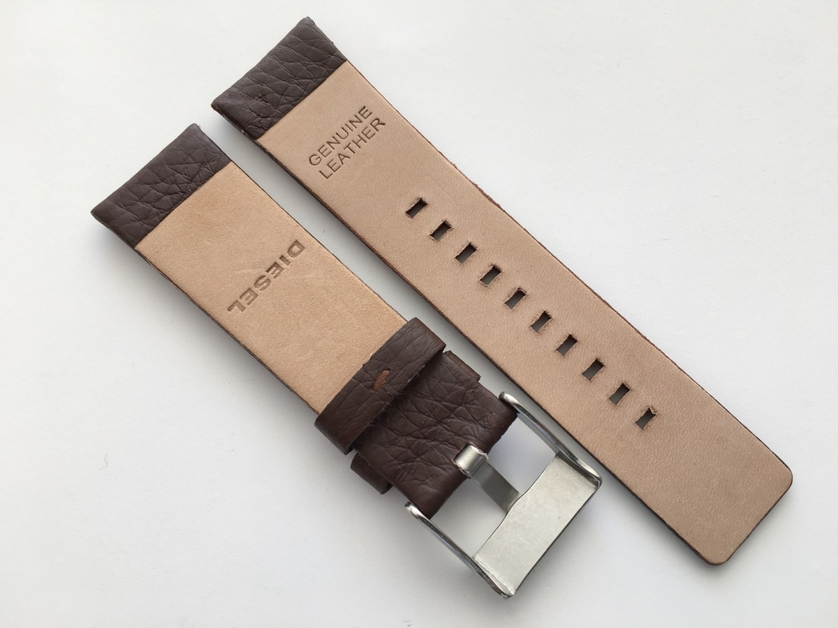 b1bbfb93784 pulseira em couro para relógios diesel - preta ou marrom. Carregando zoom.