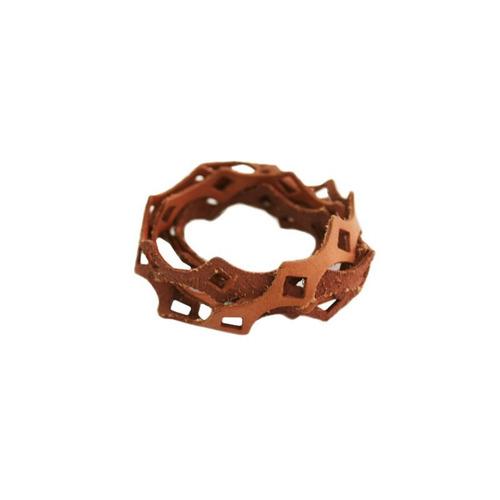 pulseira em couro verdadeiro cor caramelo unissex tipo rip.