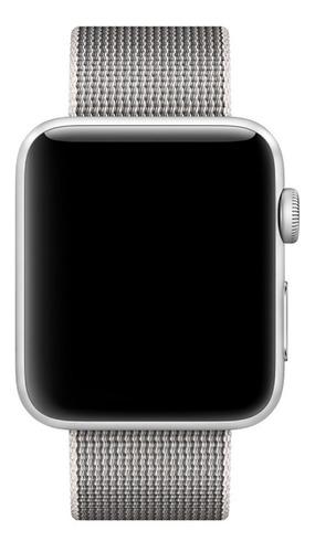 pulseira em nylon para apple watch 38/40mm - pérola