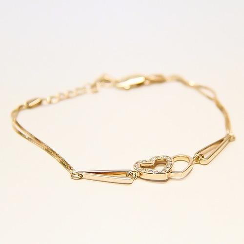 pulseira em ouro 18k  com 15 diamantes
