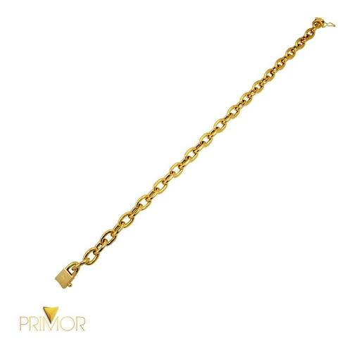 pulseira em ouro malha cartier com fecho gaveta e 20g ps012