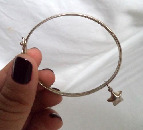 pulseira em prata de lei pingente estrela