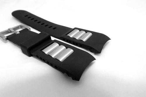 pulseira emporio armani ap-0690 51mm borracha