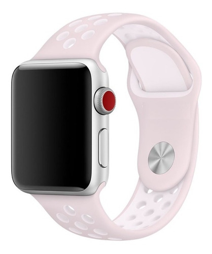 pulseira esportiva para apple watch 42/44mm - rosa claro / jetech