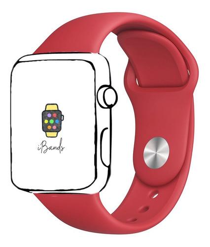 pulseira esportiva vermelha para apple watch 42mm 44mm sm