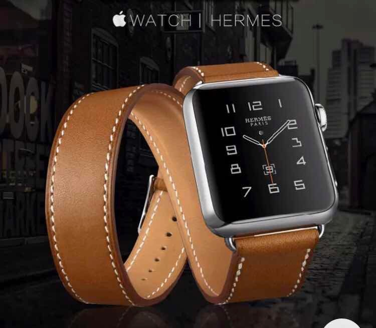 a11c3960533 Pulseira Estilo Hermes Double Tour P  Apple Watch 38mm 42mm - R  119 ...