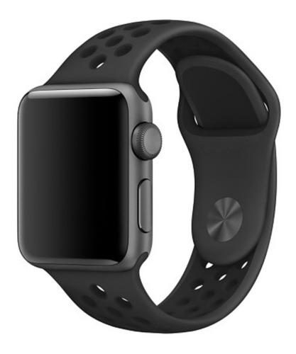 pulseira estilo nike p/ apple watch 42/44mm preto