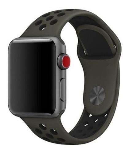 pulseira estilo nike para apple watch 38/40mm - cargo khaki
