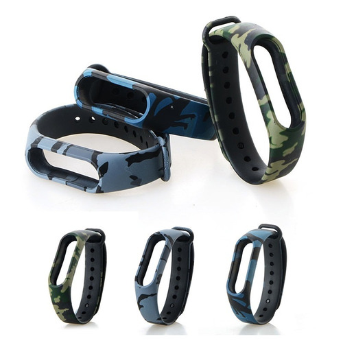 pulseira extra mi band 2 colorida miband2 camuflada militar