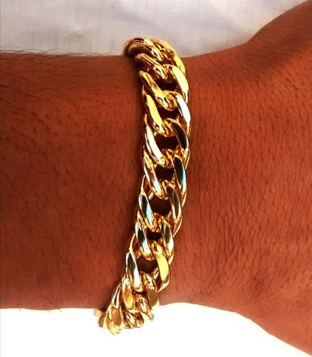 pulseira fecho gaveta banhada ouro banho duplo garantia 1ano