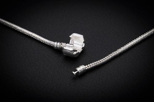 pulseira feminina aço j-248 estilo pandora completo berloque