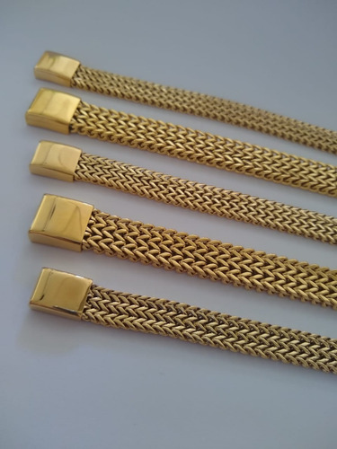 pulseira feminina banhada ouro 18k maciça - não perde a cor