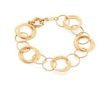 pulseira feminina círculos vazados ouro rommanel 550788