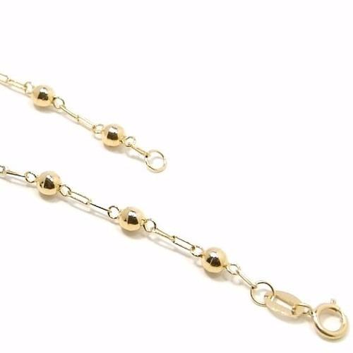 pulseira feminina de bolinha 5mm em ouro 18k-750