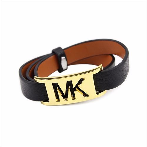 pulseira feminina de marca mk dourado/preta bd1263