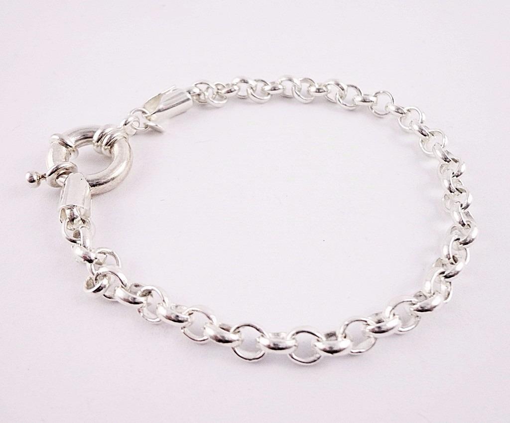 365448a3992 pulseira feminina elo portugues folheada a prata semi joias. Carregando  zoom.