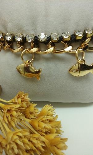 pulseira feminina folheada a ouro
