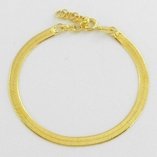 pulseira feminina folheada ouro