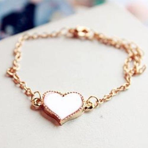 pulseira feminina jóia dourada folheada
