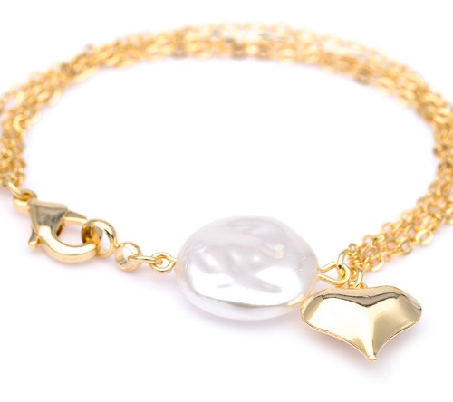 pulseira feminina ogrife j-811 banhado ouro 18k semi jóia