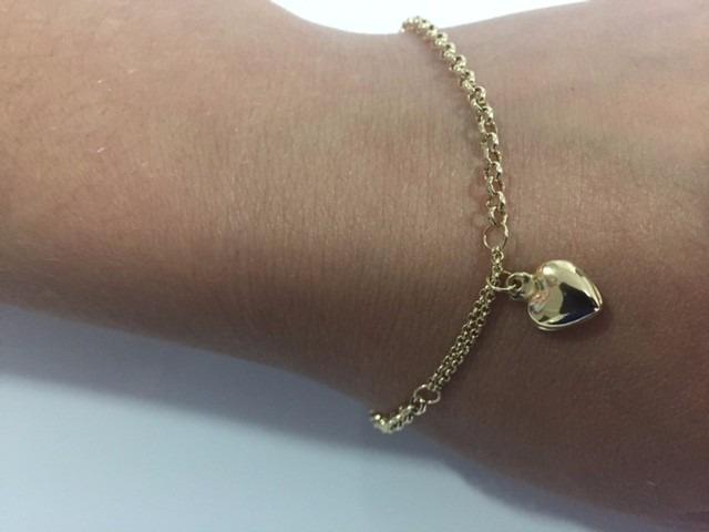 b8ccfea0a113b pulseira feminina ouro 18k coração - garantia eterna · pulseira feminina  ouro