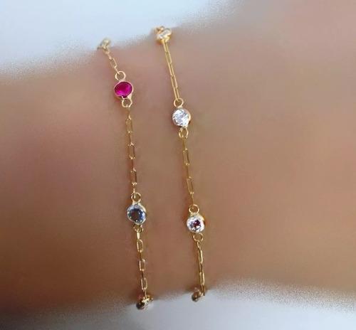 pulseira feminina pedra joia ouro 18k elo cartie certificado