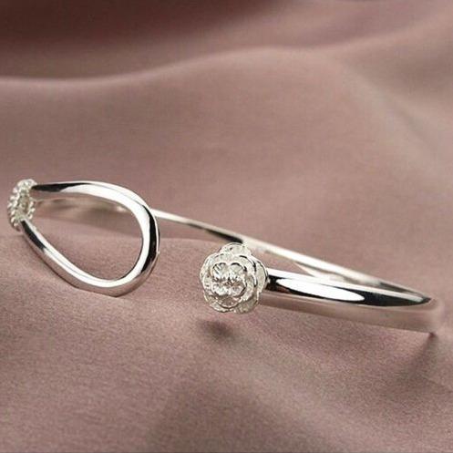 pulseira feminina prata folheado + colar e brincos ametista