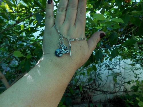 pulseira feminina são jorge com espada católica religiosa