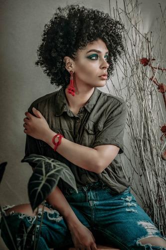 pulseira feminina ubuntu   da tribu - biojoias