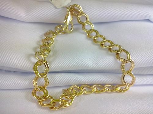 pulseira folheada a ouro 18k feminina estilo moda elegante